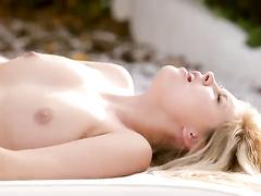 Beauty girlfriends are pleasuring lesbian sex outdoor