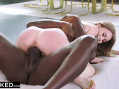Luxurious brunette young chick loves only interracial rough fuck with bbc