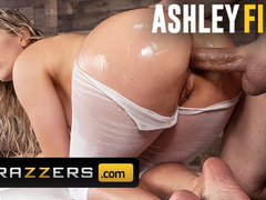 Hot big butt blonde milf Ashley Fires gets roughly fucked in the asshole